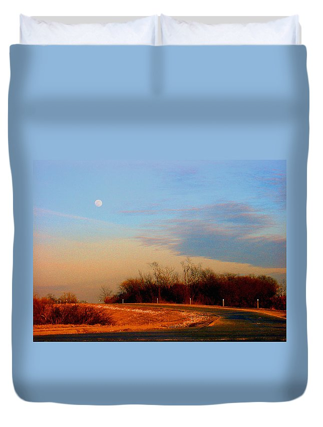 Landscape Duvet Cover featuring the photograph The On Ramp by Steve Karol
