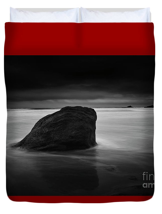Rock Duvet Cover featuring the photograph The One by Masako Metz