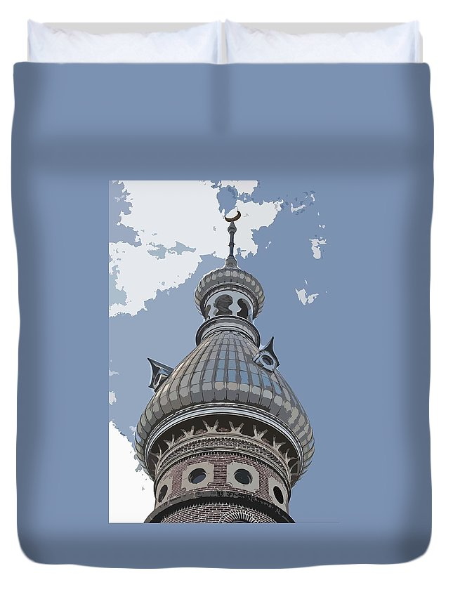Unviersity Of Tampa Duvet Cover featuring the photograph The Onion Of The Sky by Jost Houk