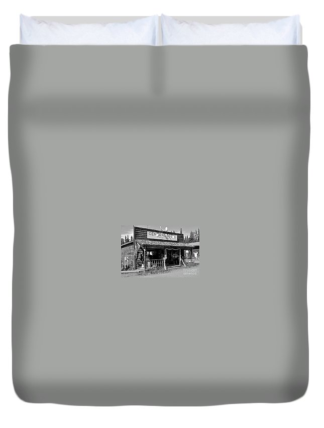 Store Duvet Cover featuring the photograph The Only Store by Rick Monyahan