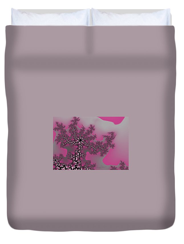 Fractals Tree Nature Oriental Art Duvet Cover featuring the digital art The Oriental Tree by Veronica Jackson