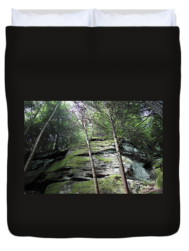 Nature Duvet Cover featuring the photograph The Original My Space by Amanda Barcon