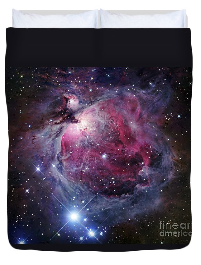 Astronomy Duvet Cover featuring the photograph The Orion Nebula by Robert Gendler