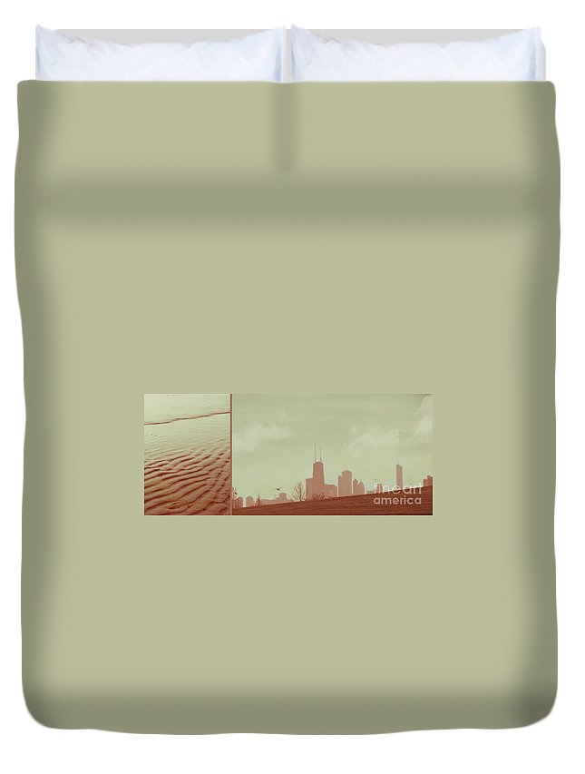 Beach Duvet Cover featuring the photograph The Other Side Of Fate by Dana DiPasquale
