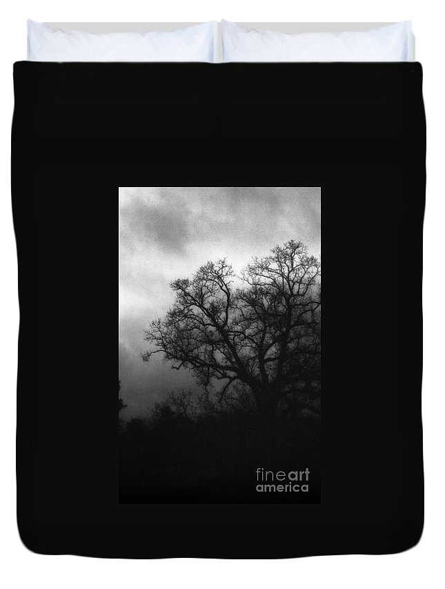 Eerie Duvet Cover featuring the photograph The Other Side by Richard Rizzo