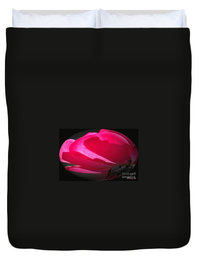 Rose Duvet Cover featuring the photograph The Oval Rose by Donna Bentley