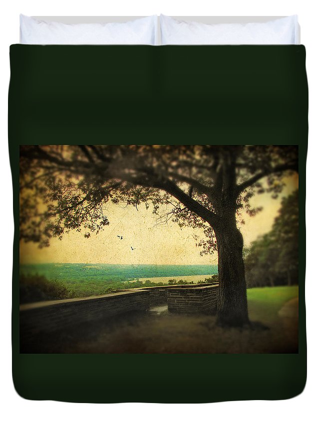 Nature Duvet Cover featuring the photograph The Overlook by Jessica Jenney