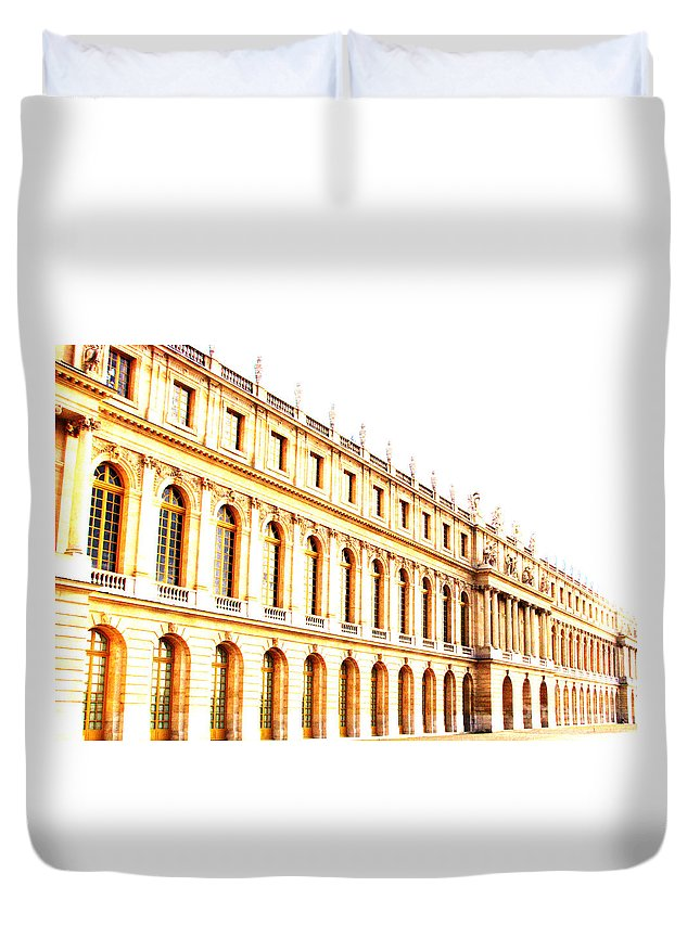Versailles Duvet Cover featuring the photograph The Palace by Amanda Barcon