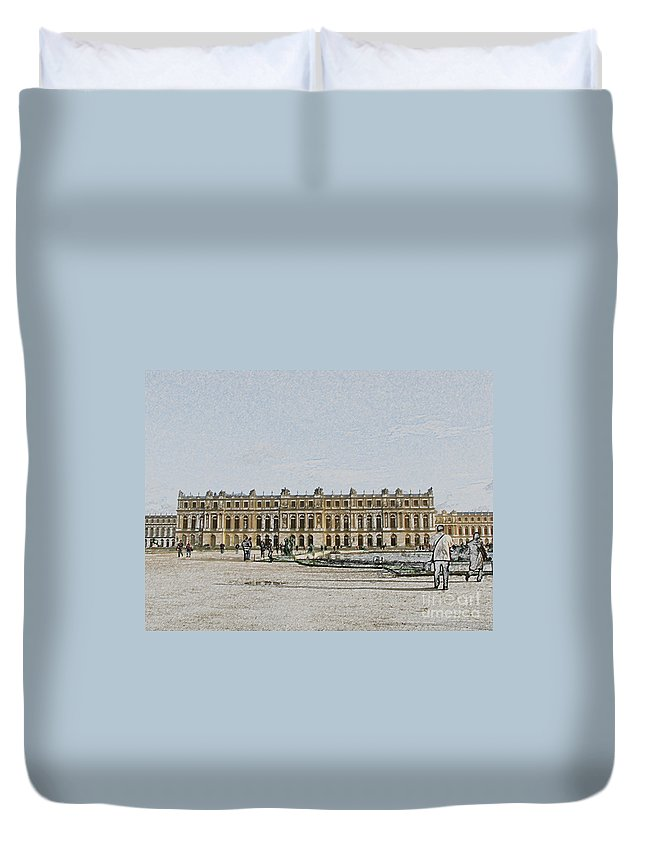 Palace Duvet Cover featuring the photograph The Palace Of Versailles by Amanda Barcon