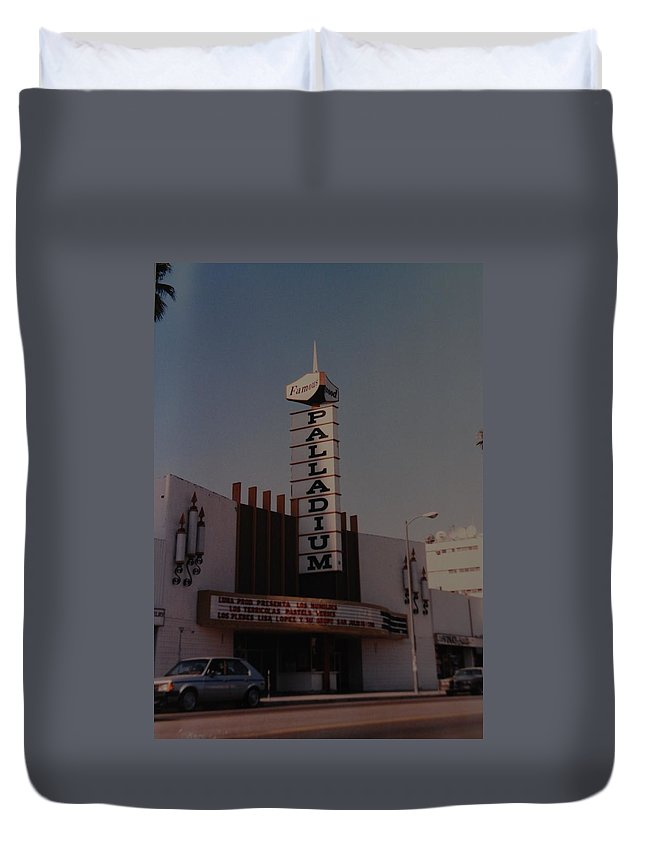 The Palladium Duvet Cover featuring the photograph The Palladium by Rob Hans