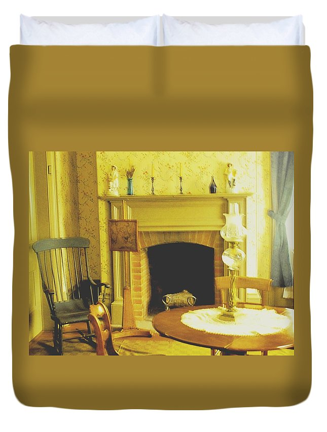Pioneer Duvet Cover featuring the photograph The Parlour by Ian MacDonald
