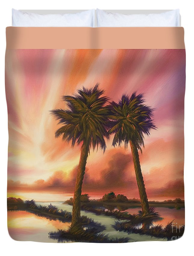 Skyscape Duvet Cover featuring the painting The Path Ahead by James Christopher Hill