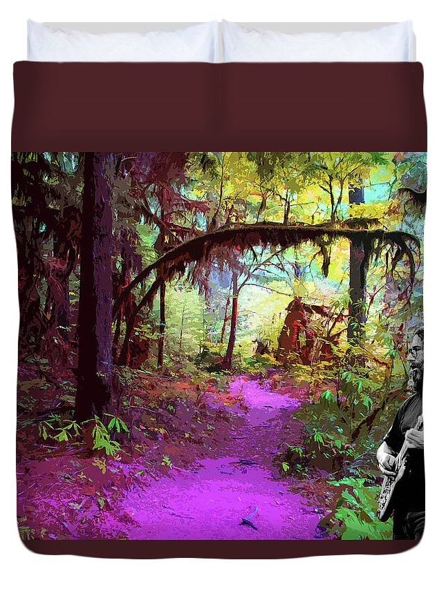 Rock Musicians Duvet Cover featuring the photograph The Path Leads Ahead by Ben Upham