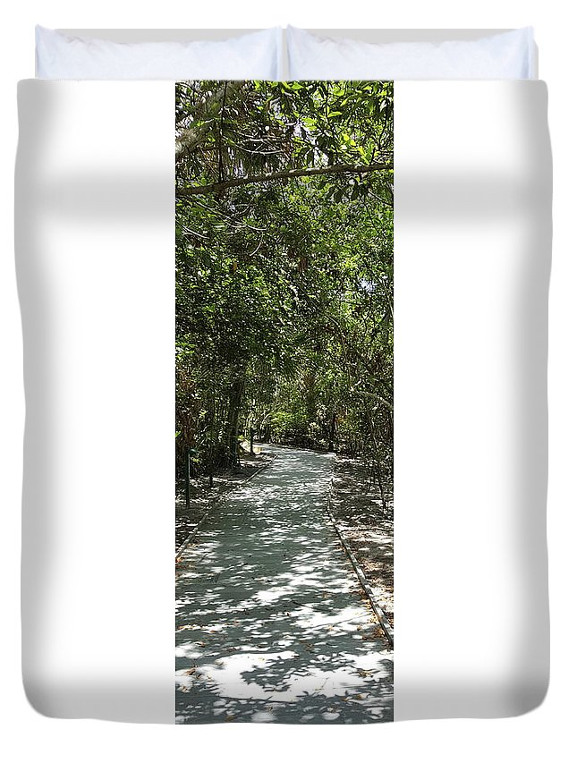 Duvet Cover featuring the photograph The Path by Natalia Castro