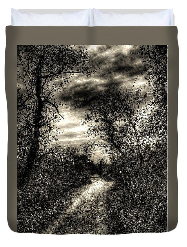 New York Duvet Cover featuring the photograph The Path Seldom Taken by Jeff Watts