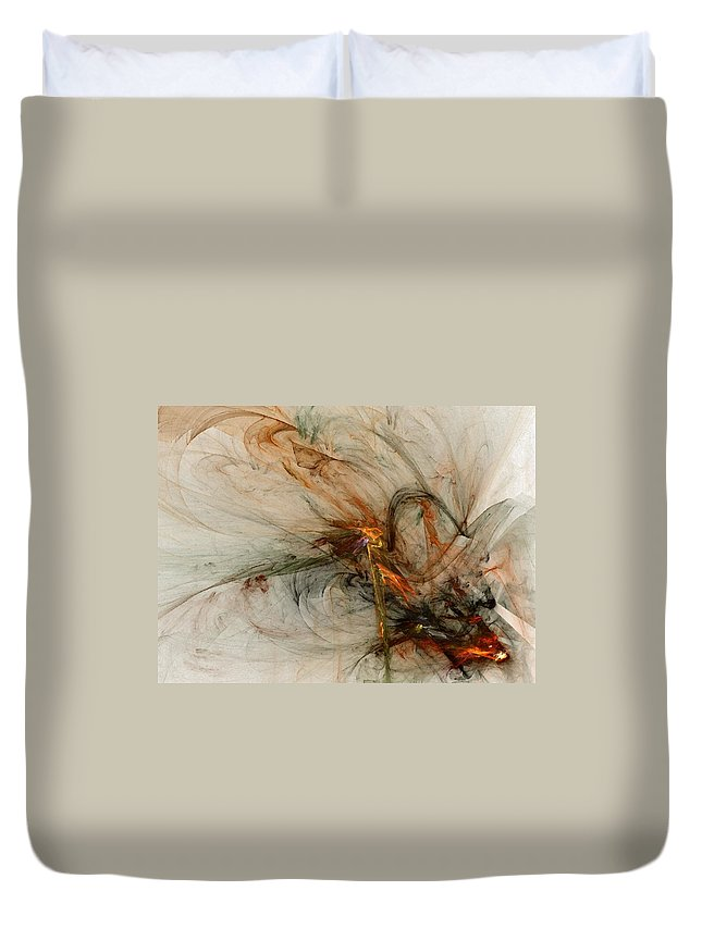 Nonrepresentational Duvet Cover featuring the digital art The Penitent Man - Fractal Art by NirvanaBlues