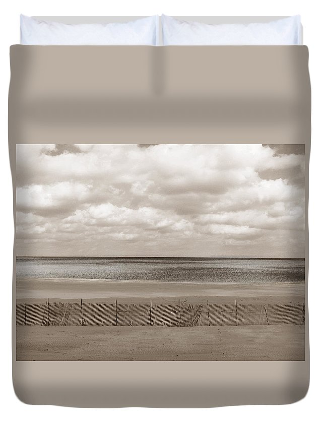 Ocean Duvet Cover featuring the photograph The Perfect Sky Is Torn by Dana DiPasquale