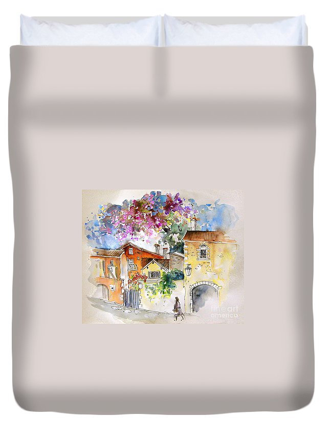 France Paintings Duvet Cover featuring the painting The Perigord In France by Miki De Goodaboom