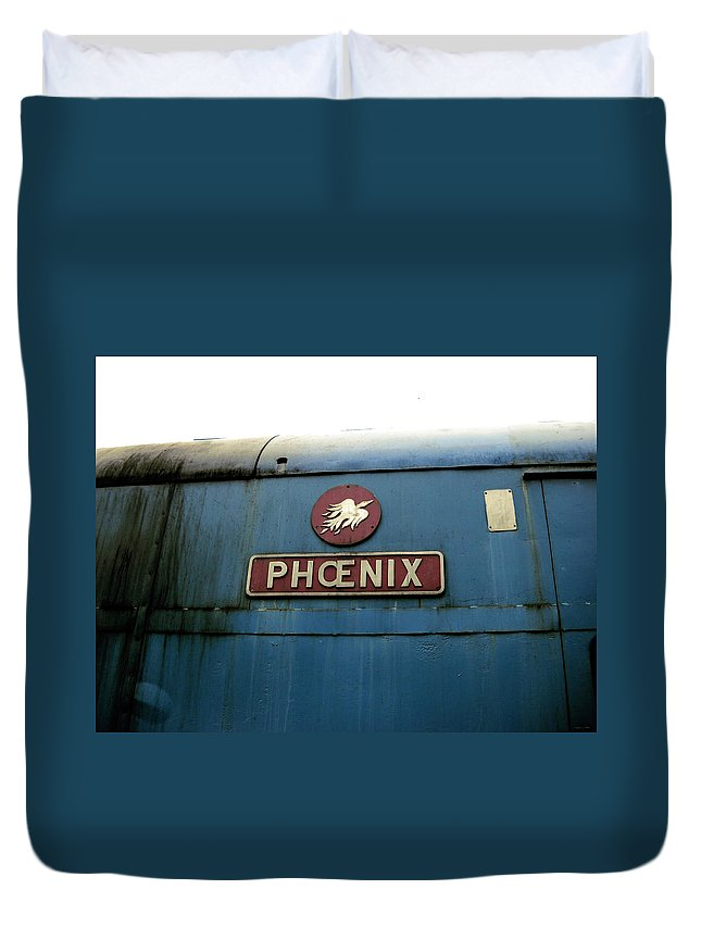 United Kingdom Duvet Cover featuring the photograph The Phoenix by Julia Raddatz