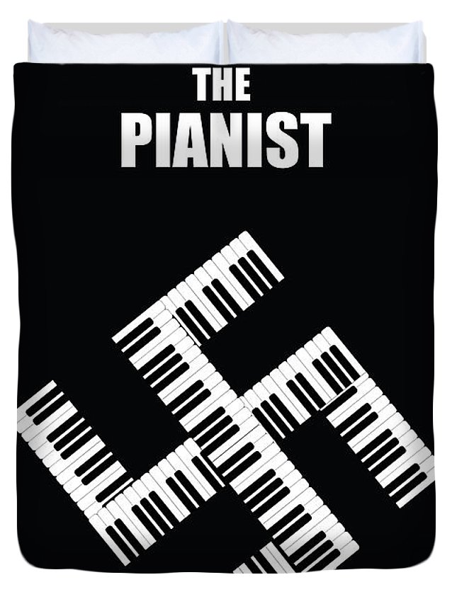 Thepianist Duvet Cover featuring the digital art The Pianist by Onur KURT
