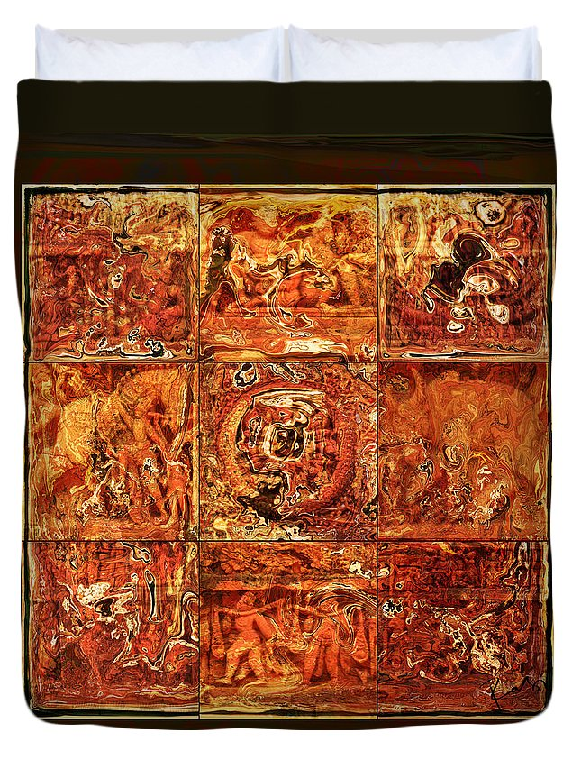Bangladesh Duvet Cover featuring the digital art The Pieces Of Heritage by Rabi Khan