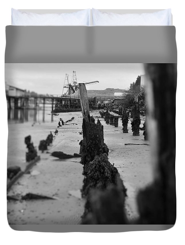 Water Duvet Cover featuring the photograph The Pier by Adam Norman