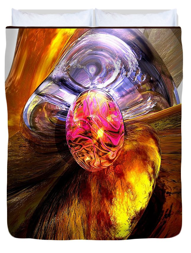 3d Duvet Cover featuring the digital art The Pleasure Palace by Alexander Butler