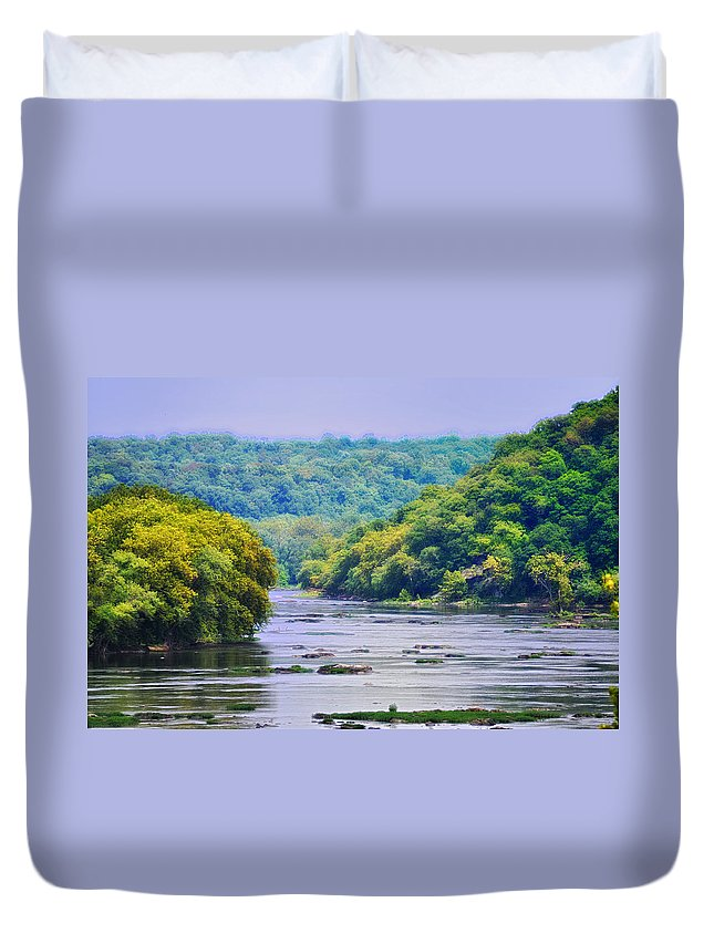 West Virginia Duvet Cover featuring the photograph The Potomac by Bill Cannon