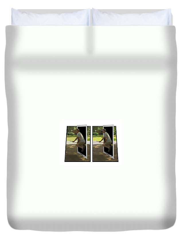 2d Duvet Cover featuring the photograph The Potter Effect - Gently Cross Your Eyes And Focus On The Middle Image by Brian Wallace