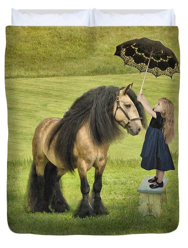 Children Duvet Cover featuring the photograph The Precious Companion by Fran J Scott