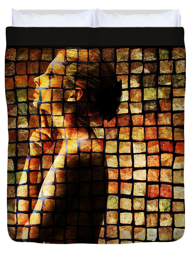 Girl Duvet Cover featuring the photograph The Process Of Thought by Vincent O Byrne