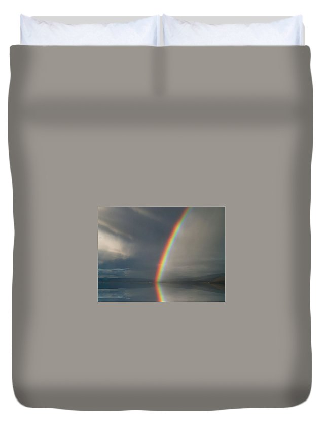 Photo Art Duvet Cover featuring the digital art The Promise by Max DeBeeson