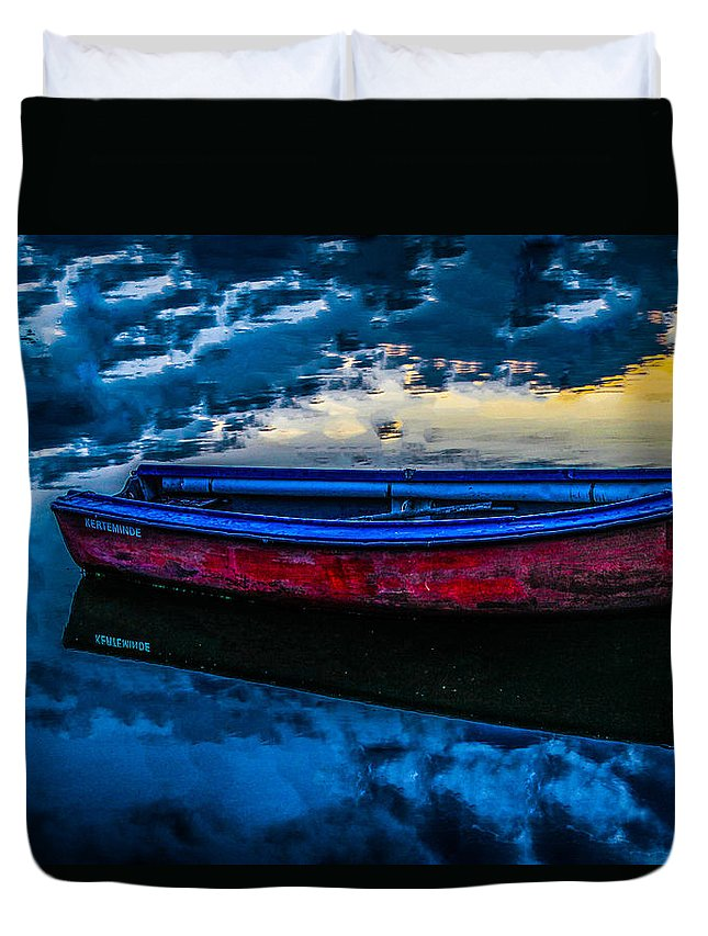 Boat Duvet Cover featuring the photograph The Promise Of Adventure by Chris Alexander