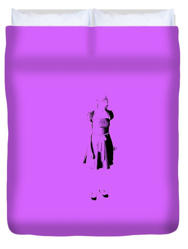 Dress Duvet Cover featuring the photograph The Purple Dress by Edward Smith