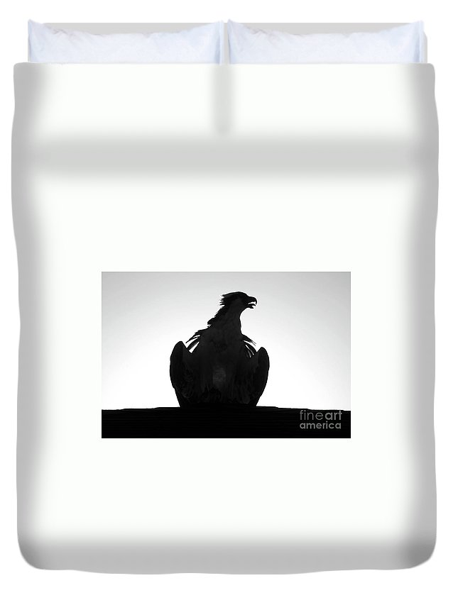 Raptor Duvet Cover featuring the photograph The Raptors Call by David Lee Thompson