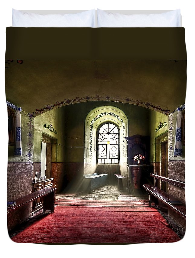 Church Duvet Cover featuring the photograph The Reading Room by Evelina Kremsdorf