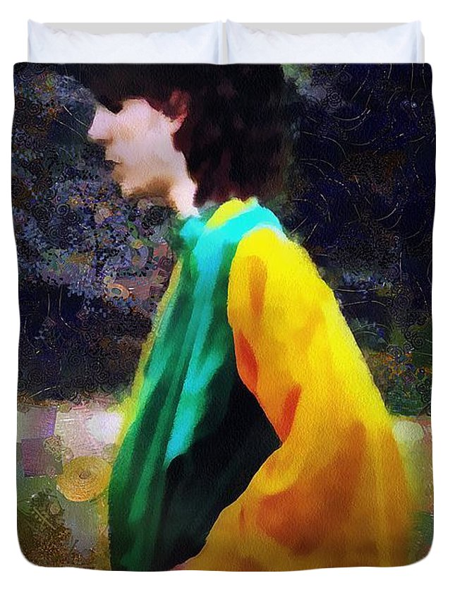 Building Duvet Cover featuring the painting The Rejected Suitor by RC DeWinter