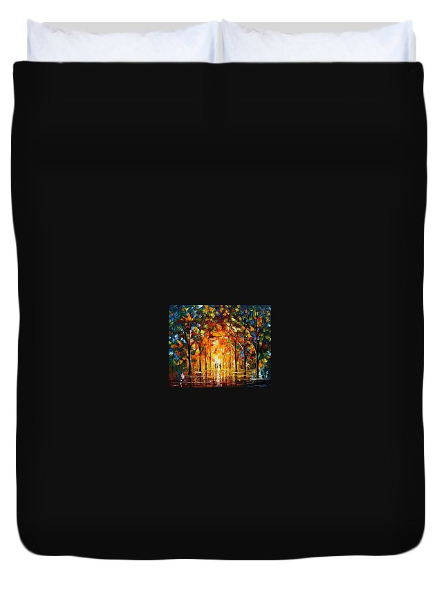Afremov Duvet Cover featuring the painting The Return Of The Sun by Leonid Afremov