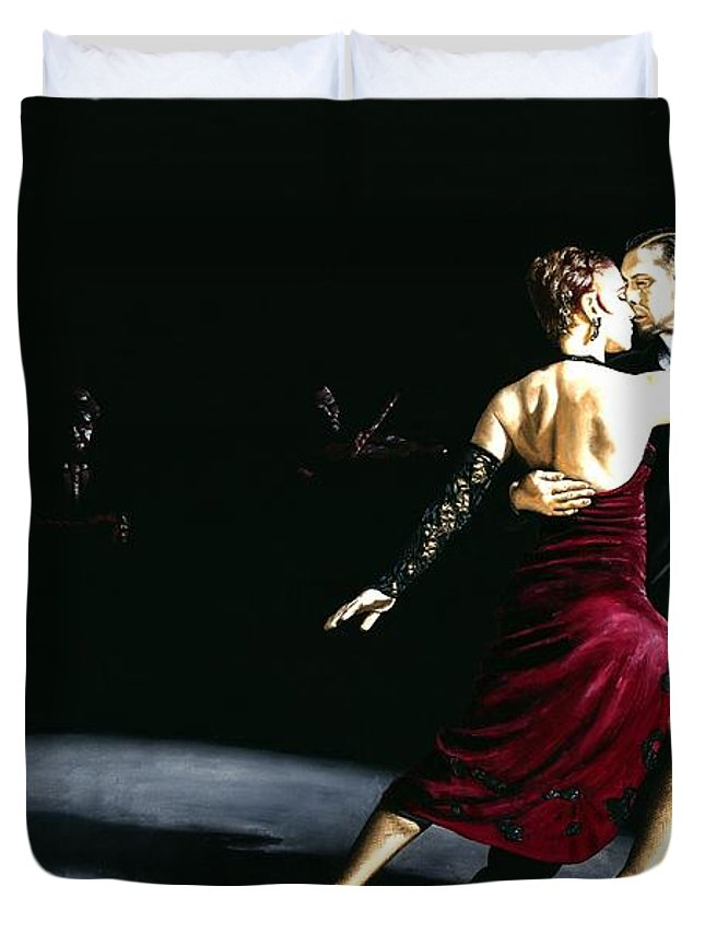 Tango Duvet Cover featuring the painting The Rhythm Of Tango by Richard Young