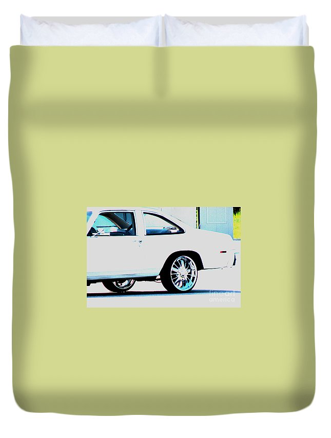 Car Duvet Cover featuring the photograph The Ride by Amanda Barcon