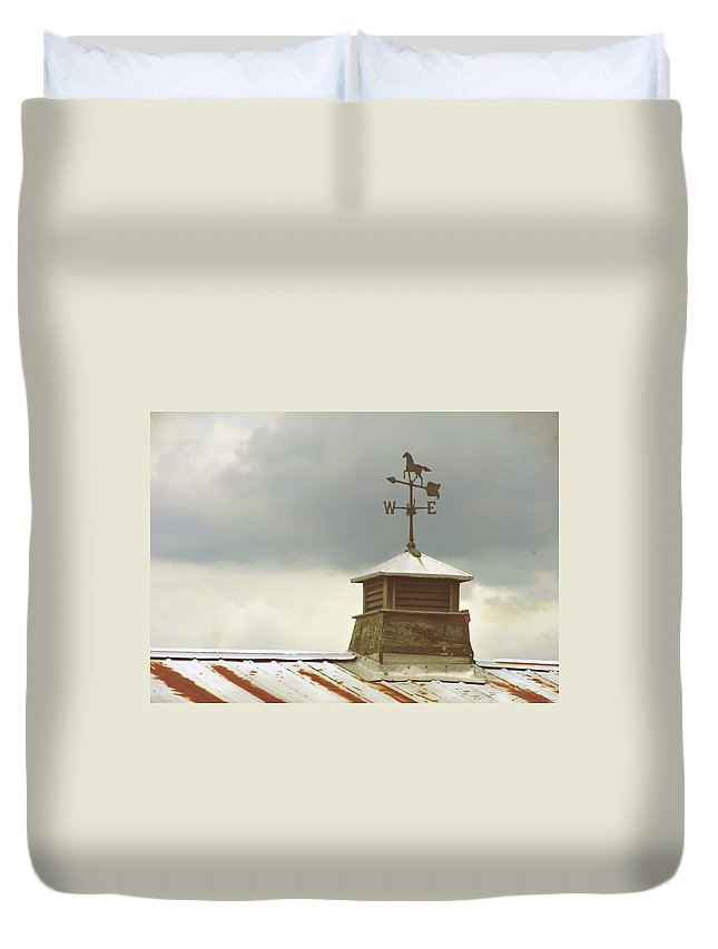 Farm Duvet Cover featuring the photograph The Right Direction by JAMART Photography