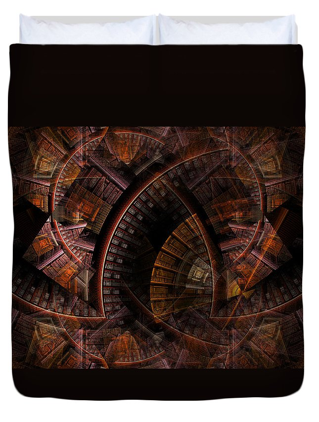Refuge Duvet Cover featuring the digital art The Right Of Sanctuary by NirvanaBlues