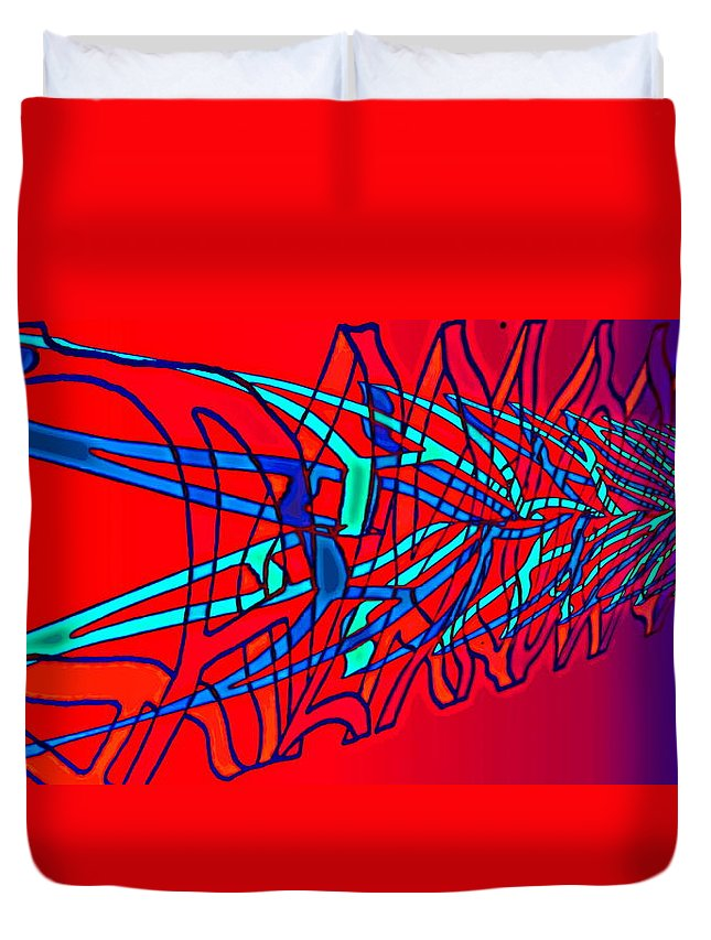 C2 Duvet Cover featuring the digital art The Risc Of Alcohol by Helmut Rottler