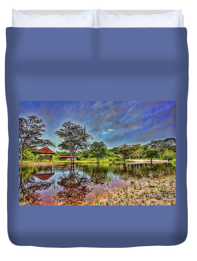 Suriname Duvet Cover featuring the photograph The River by Nadia Sanowar
