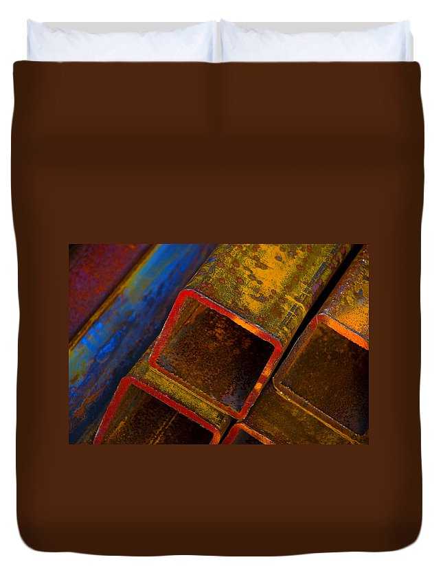 Abstract Duvet Cover featuring the photograph The River by Skip Hunt