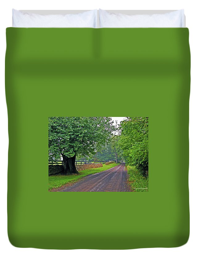 Nature Duvet Cover featuring the photograph The Road Less Traveled by Kay Lovingood
