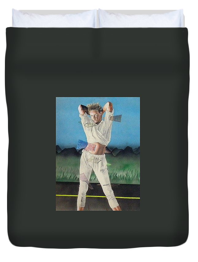 Fashion Duvet Cover featuring the painting The Road To Fashion by Shaun McNicholas