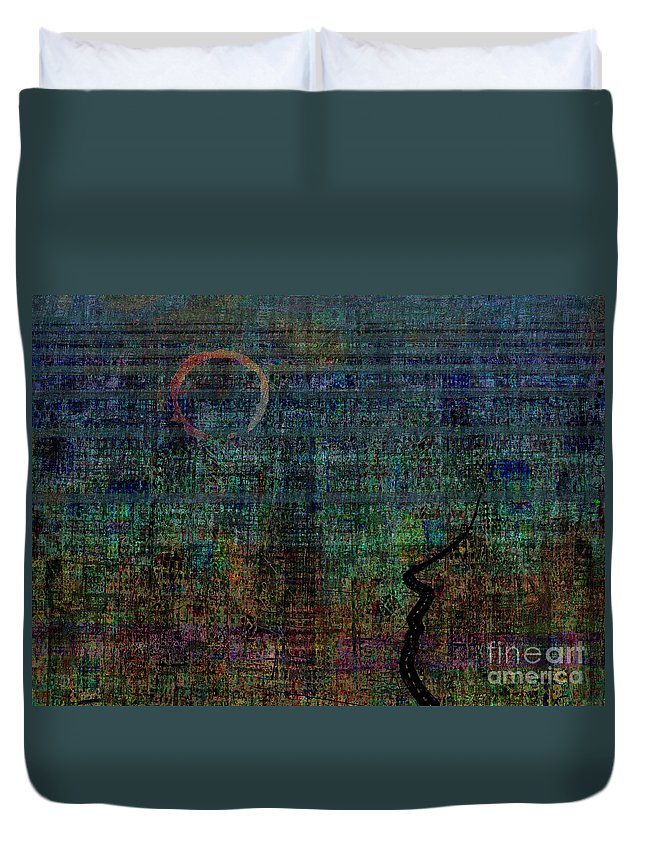 Nowhere Duvet Cover featuring the digital art The Road To Nowhere by Andy Mercer