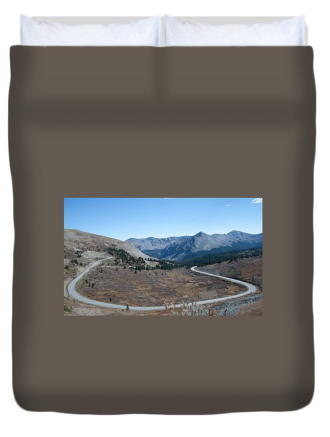 Mountains Duvet Cover featuring the photograph The Road To The Continental Divide by Angus Hooper Iii