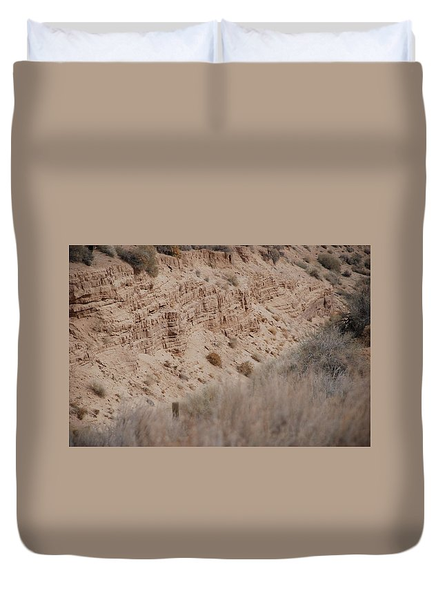 Desert Duvet Cover featuring the photograph The Rocks by Rob Hans